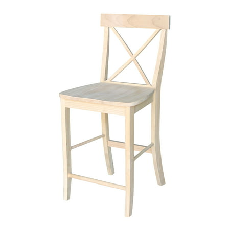 International Concepts X-Back Unfinished Counter Stool