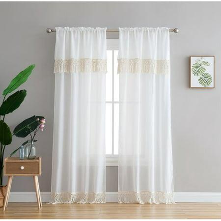 Bungalow Rose Vince Window Solid Semi-Sheer Single Curtain (Vince Drape)