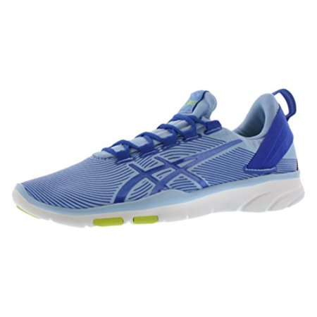 asics women's gel fit sana 2 fitness shoe, blue bellblue purplelime, 8.5 m us