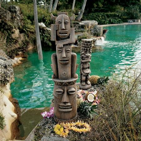 Design Toscano Tiki Gods: The Art of Celebration Statues (Set Includes: Luau & Three Pleasures Gods) ()