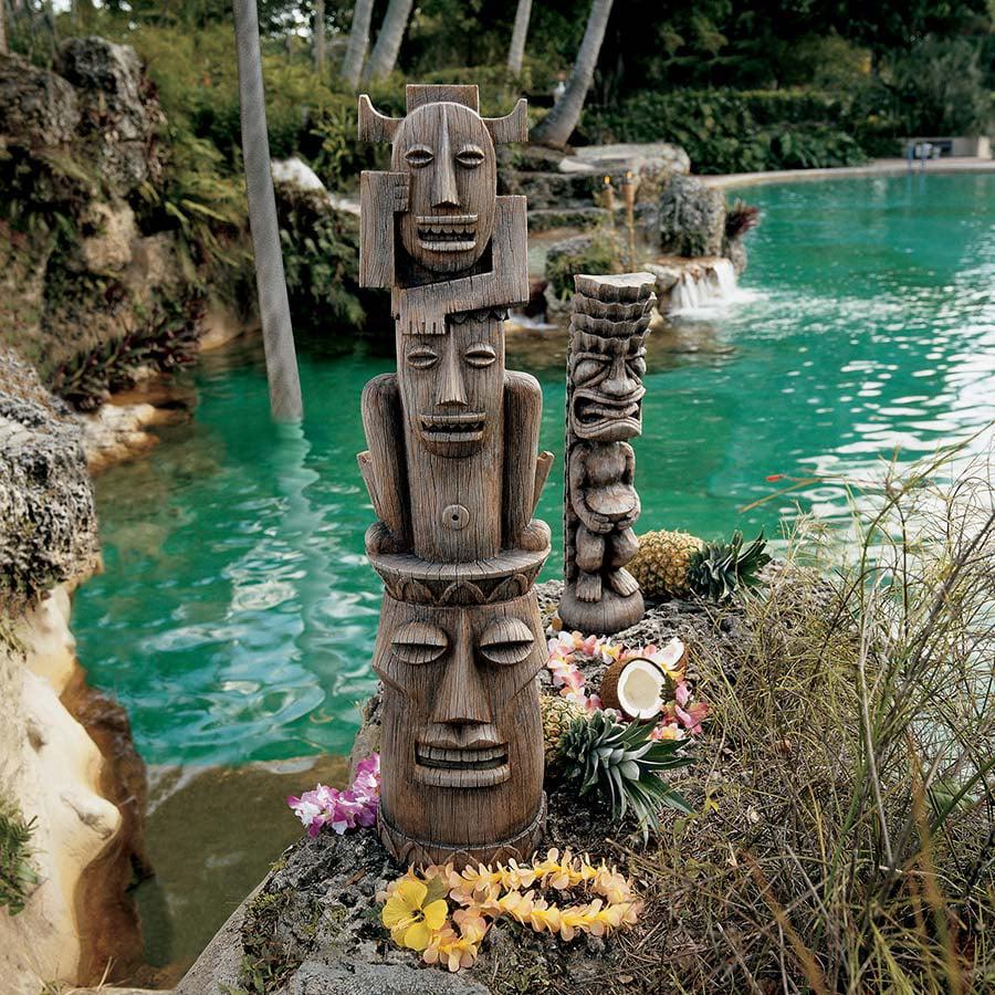 Design Toscano Tiki Gods: The Art of Celebration Statues (Set Includes: Luau & Three Pleasures Gods)