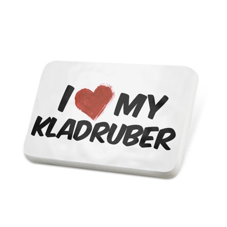 Porcelein Pin I Love my Kladruber, Horse Lapel Badge – NEONBLOND