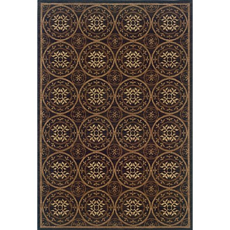 Sphinx Nadira Area Rugs - 0563N2 Transitional Casual Brown Persian Circles Leaves Shapes Rug