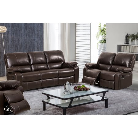 Surprising Evelyn 2 Pc Dark Brown Leather Gel Reclining Sofa And Loveset Set Cjindustries Chair Design For Home Cjindustriesco