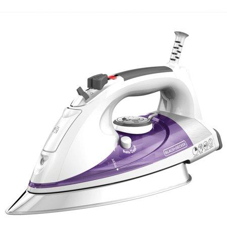 Black Decker Professional Steam Iron With Pivoting Cord  Purple  Ir1350s