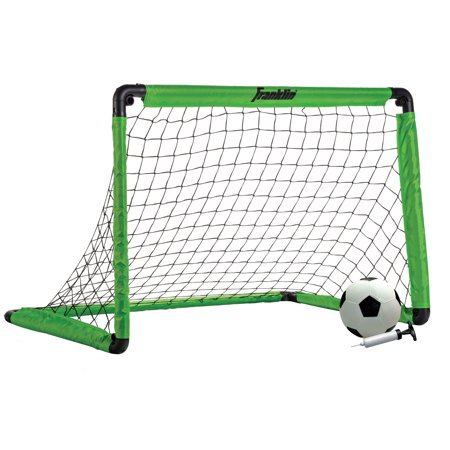 Soccer Ball Net - Franklin Sports Backyard 3' Insta-Set Soccer Goal Set for Kids ( Includes Soccer Goal, Size 1 Ball, Pump, and Stakes)