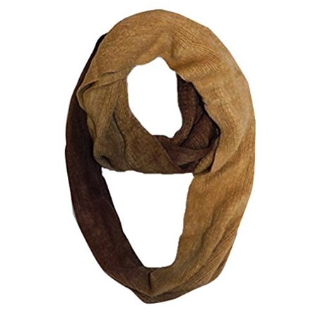 Peach Couture Cashmere feel Gorgeous and Warm Infinity loop neck scarf wrap snood Camel