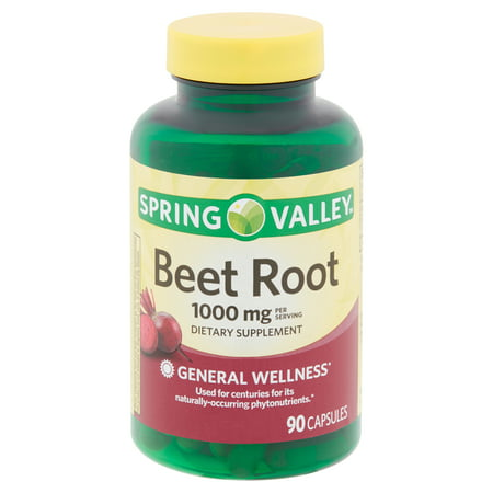 Spring Valley Beet Root Capsules, 1,000 MG per serving, Capsules, 90