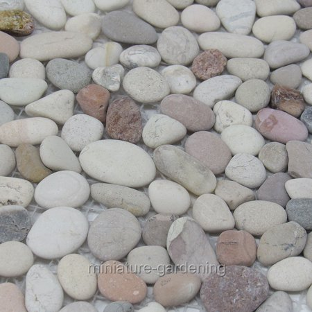 (Coverall Stone Flat Stone Sheet, River Rock for Miniature Garden, Fairy Garden)