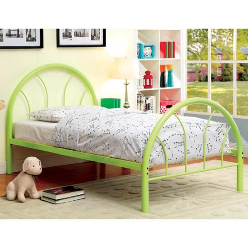 Furniture of America Linden Double Arch Metal Twin Bed Red