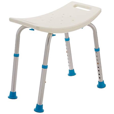 AquaSense Adjustable Bath and Shower Chair with Non-Slip Seat, White ()