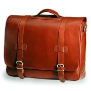 Clava SF-8 Bridle Executive Porthole Flap Briefcase - Bridle Cognac