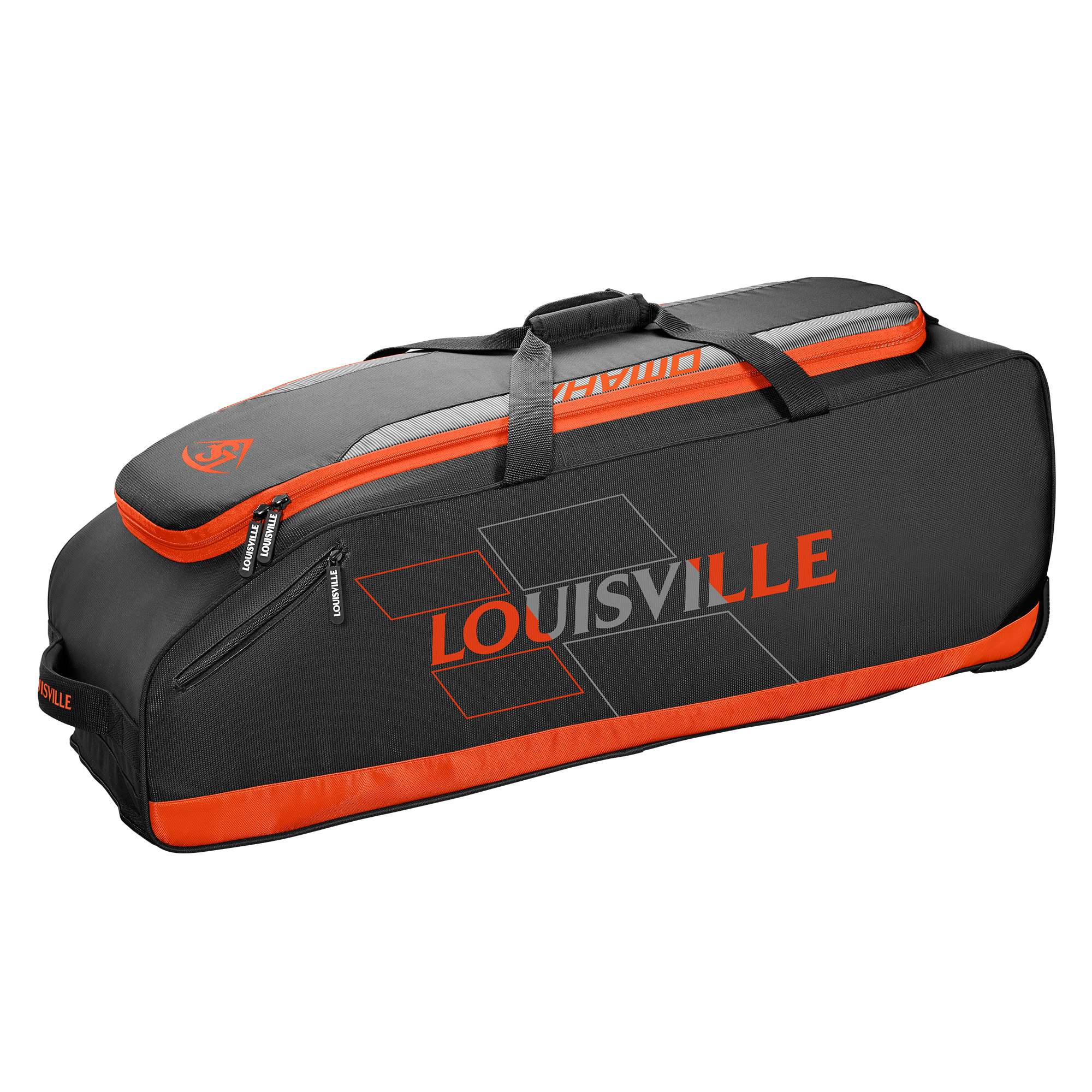 Louisville Slugger Omaha Rig Wheeled Baseball Bag Black