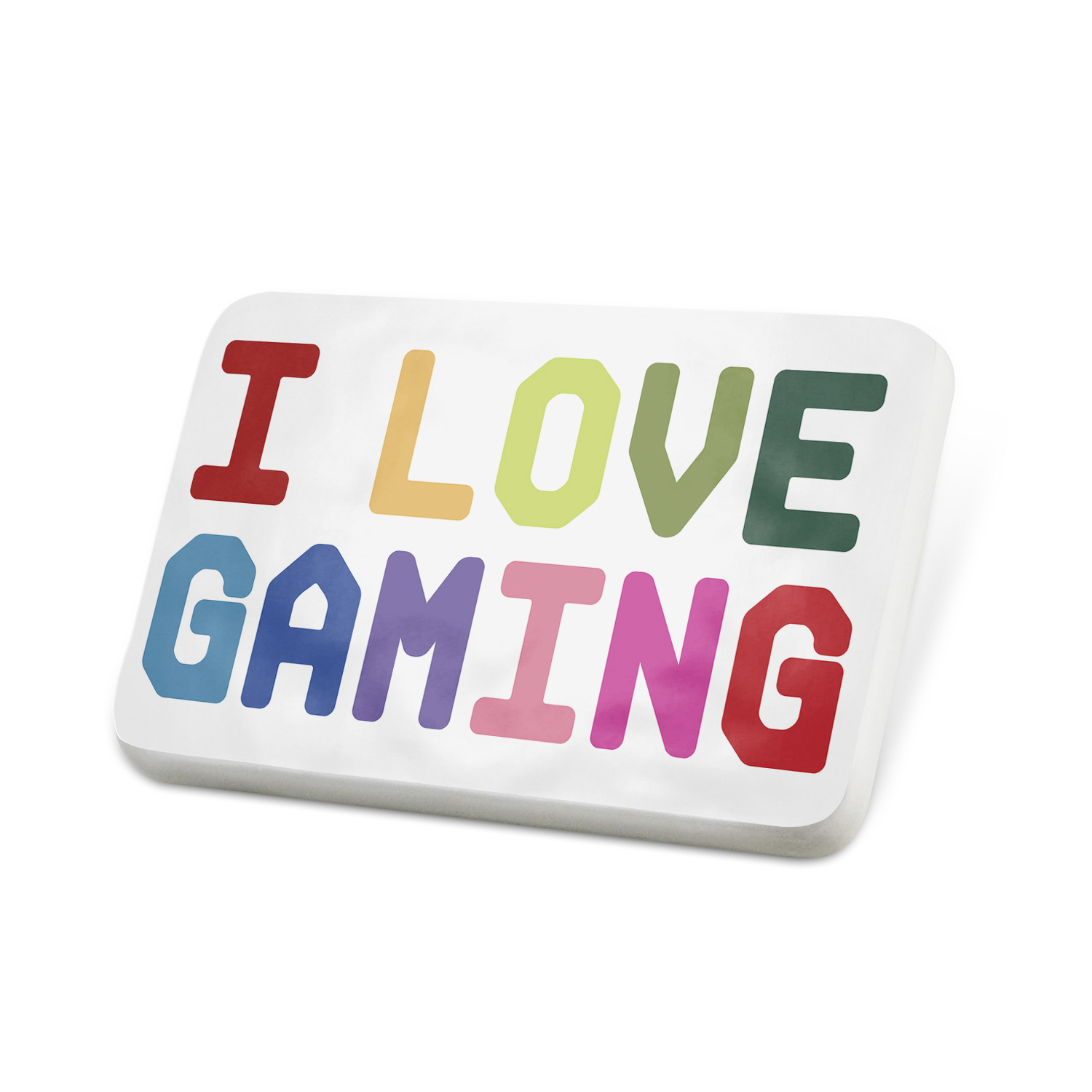 Porcelein Pin I Love Gaming,Colorful Lapel Badge – NEONBLOND