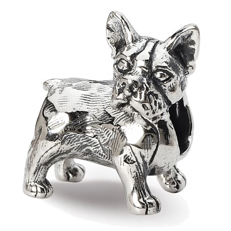 Lex & Lu Sterling Silver Reflections Boston Terrier Bead