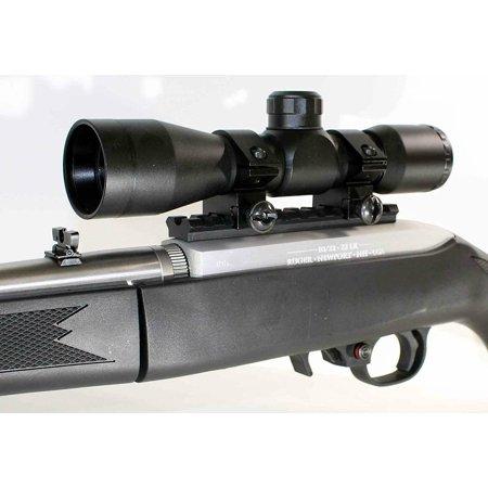 Black TRINITY 4X32 Sniper Scope Kit For Ruger 10 22.