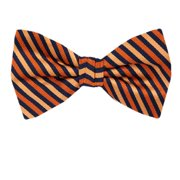 Linen Self tie bow tie - White polka dots on light orange plain weave - Notch OJIN Notch Iu4Da