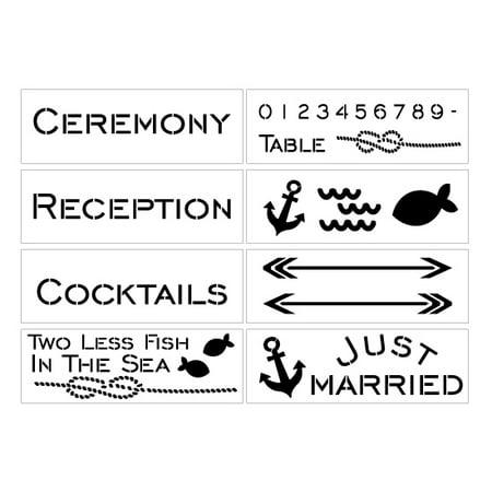 Nautical Wedding Stencil Kit (Stencil Kit)