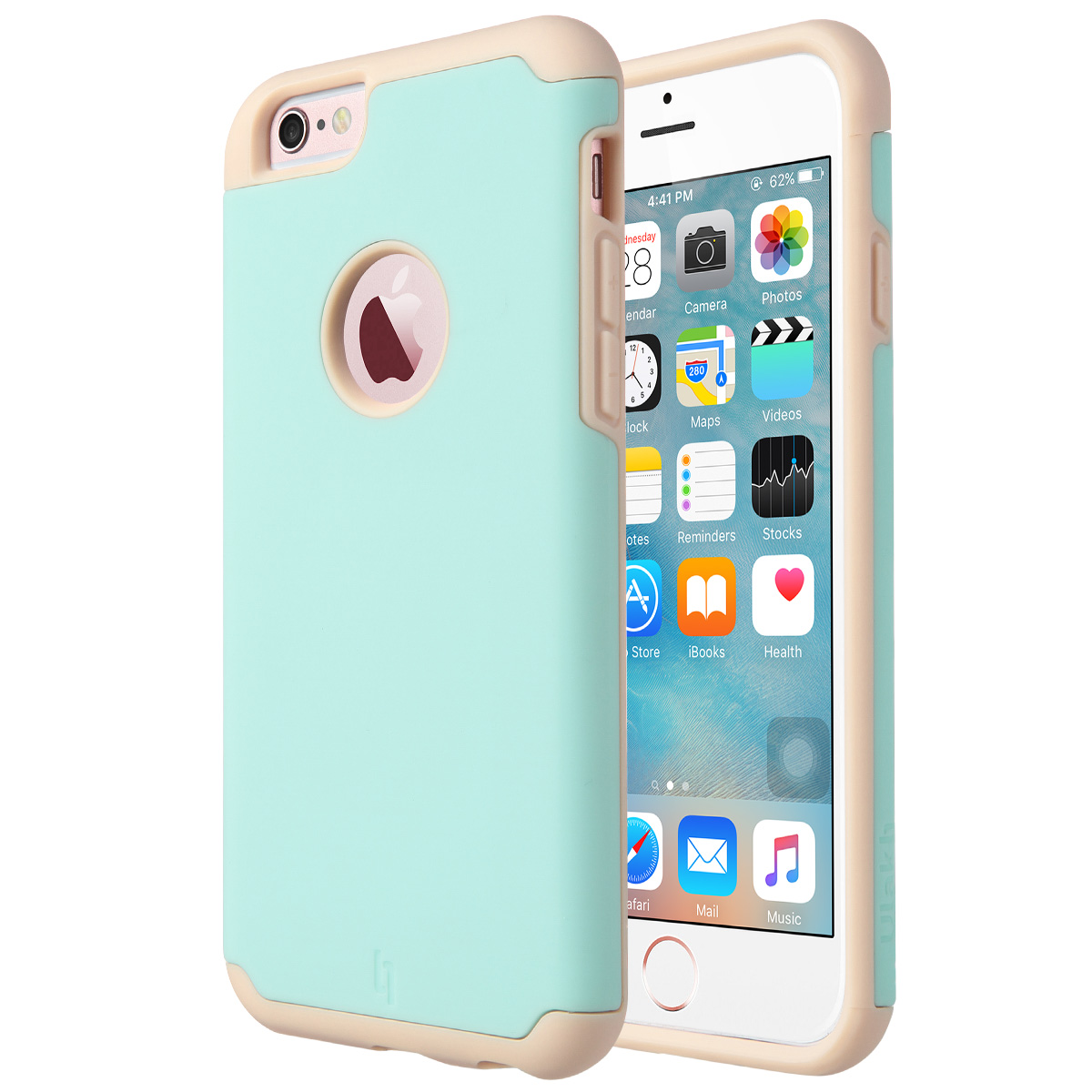 ULAK Shock Absorbent Protective Hybrid PC & Silicone Case Cover for Apple iPhone 6s / 6