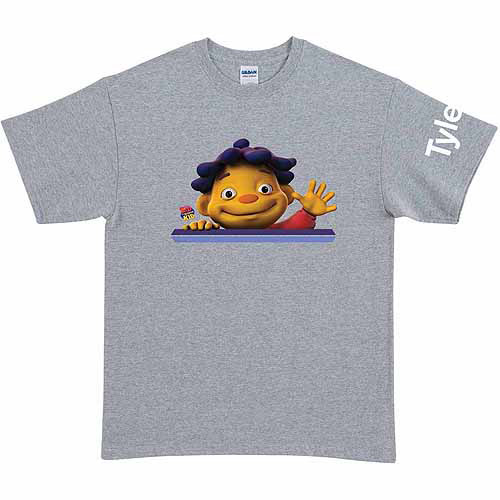 Personalized Sid the Science Kid Says Hello Adult T-Shirt, Gray