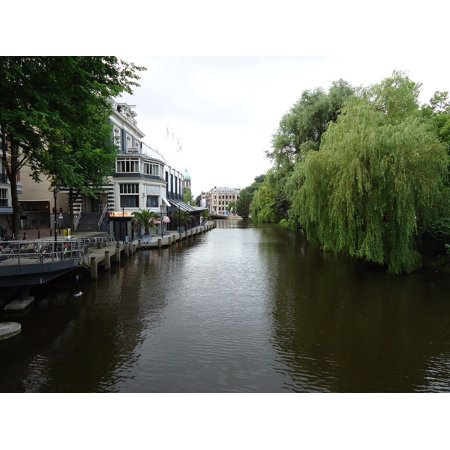 Canvas Print City Travel Amsterdam Holland Channel Stretched Canvas 10 x 14 - Travel Channel Halloween Gram