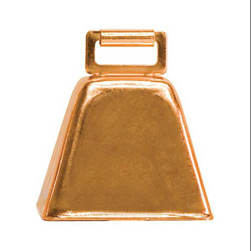 Weaver Leather 65-4473 Cow Bell, Copper-Plated Steel, 2-1 2 x 2-1 4 x 1-3 4-In. by WEAVER LEATHER LLC