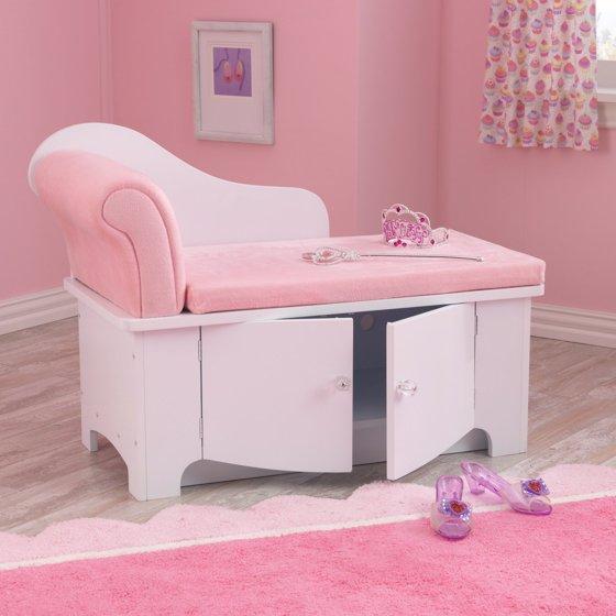 KidKraft Princess Chaise Lounge with Storage - Walmart.com