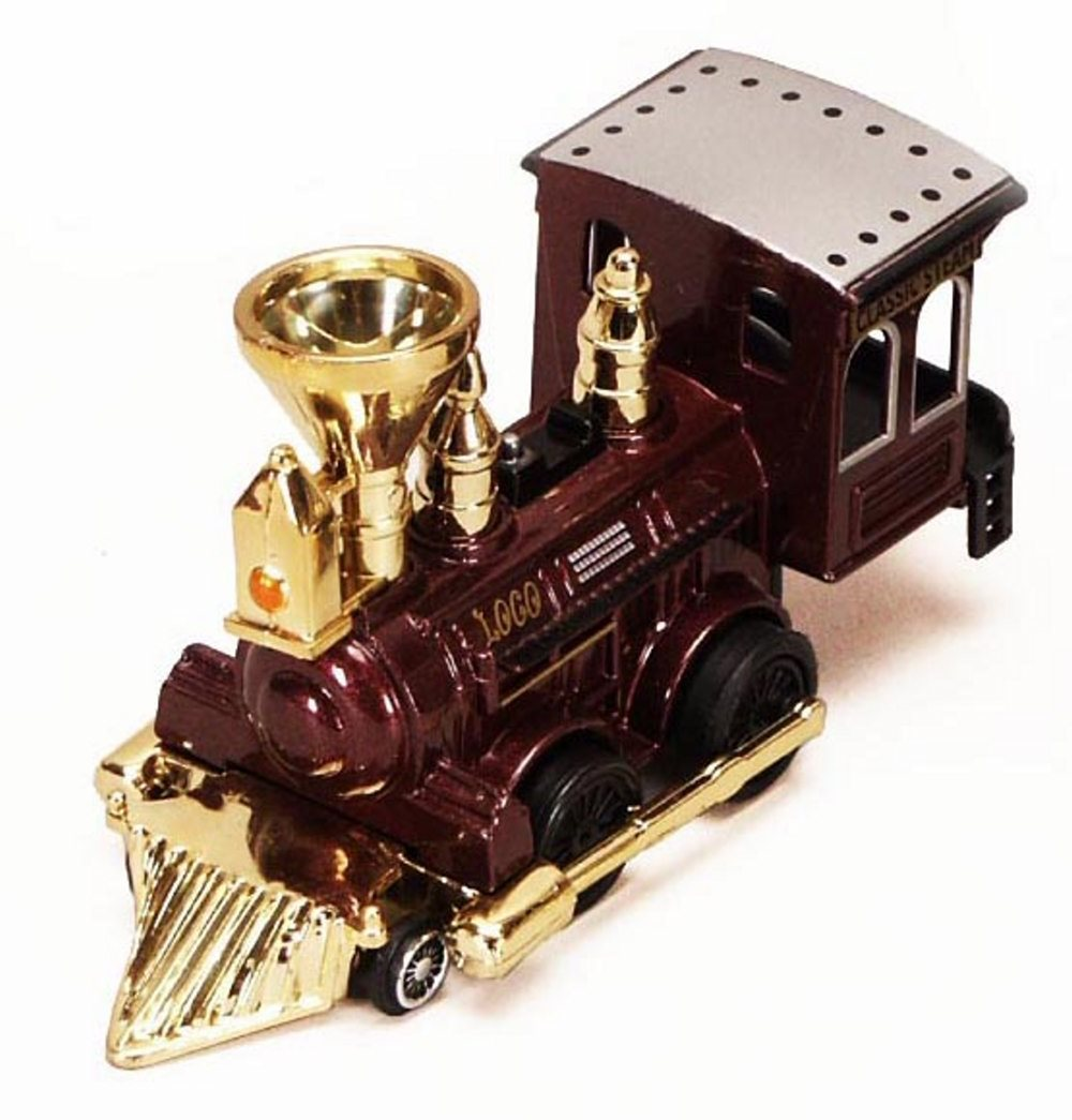 Power Steam Locomotive, Burgundy with Gold - Showcasts 9931D - 5 Inch Scale Diecast Model Replica (Brand New, but NOT IN BOX)