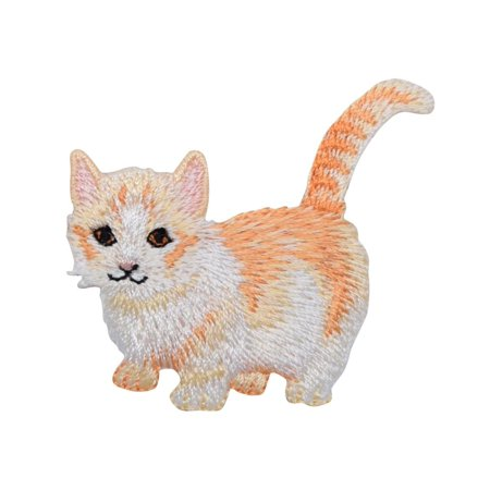 Cream Kitty Cat - Kitten - Pets - Iron on Embroidered Patch (Embroidered Kitty)