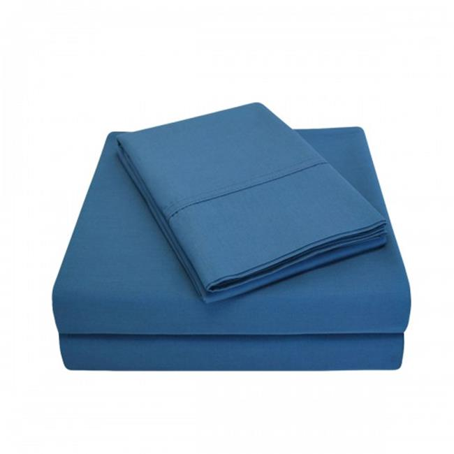 Luxor Treasures P300QNSH SLNB 300 Queen Sheet Set, Percale Solid Patterned - Navy Blue - image 1 of 1