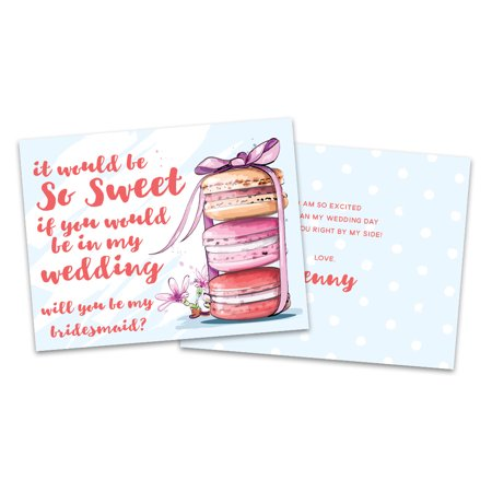 Personalized Sweet Treats Will You Be My Bridesmaid Invitation
