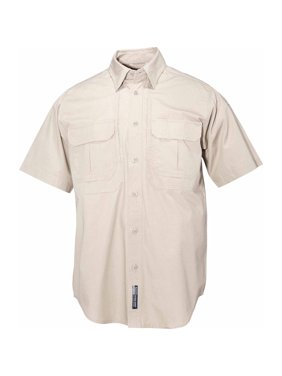 Short Sleeve Cotton Tactical Shirt, Khaki