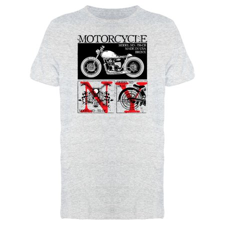 Motorcycle Model Graphic Tee Men's -Image by (Mens Models Images)