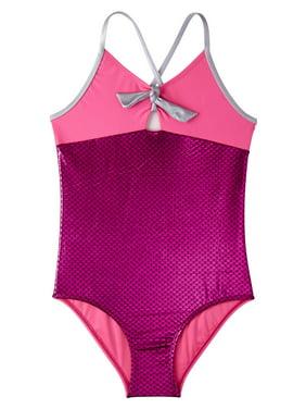 Limited Too Metallic Mermaid One-Piece Swimsuit (Toddler Girls)