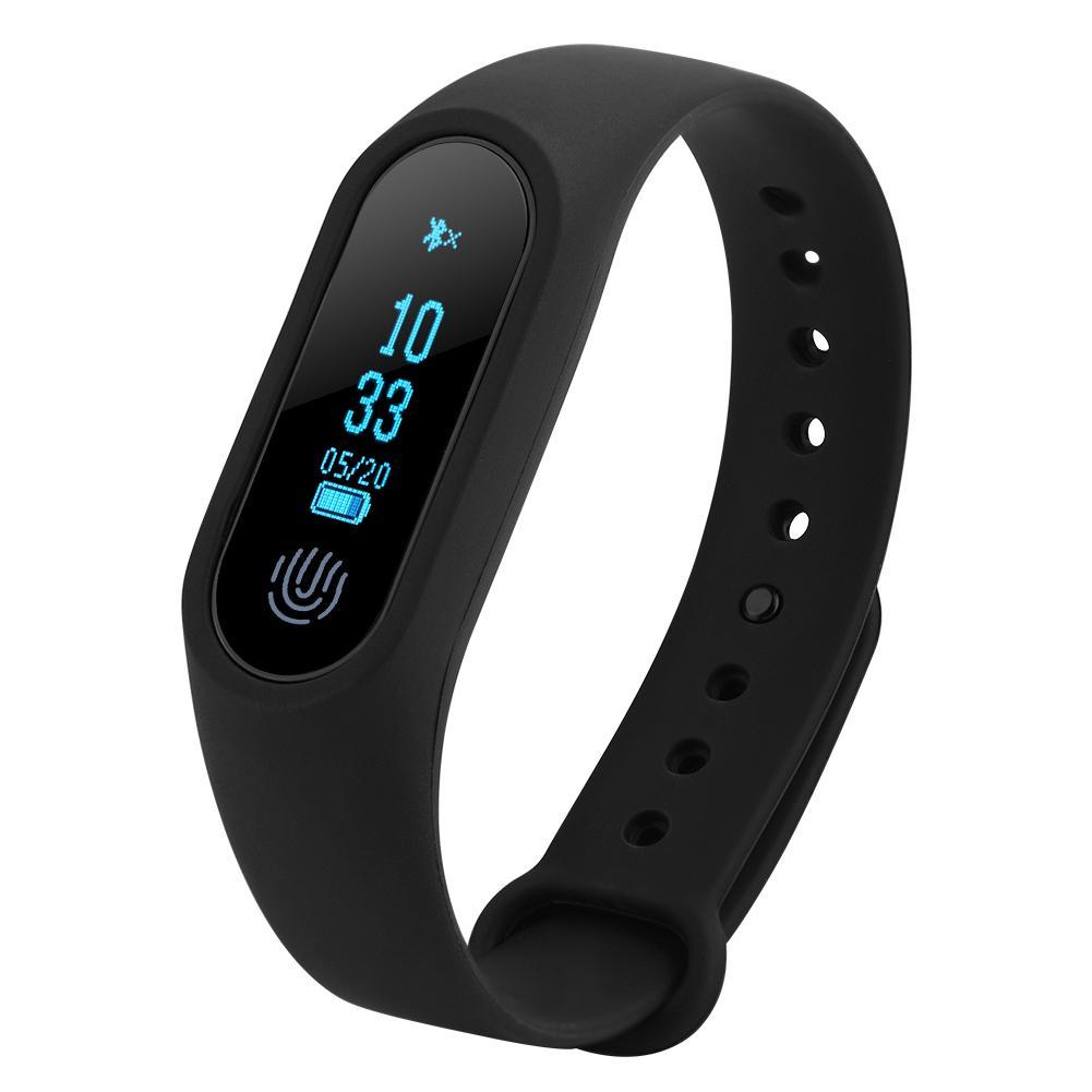 Yosoo Bluetooth Sport Smart Wristband Pedometer Heart Rate Monitor Watch Anti-lost Reminder, Heart Rate Monitor, Sleep Monitor