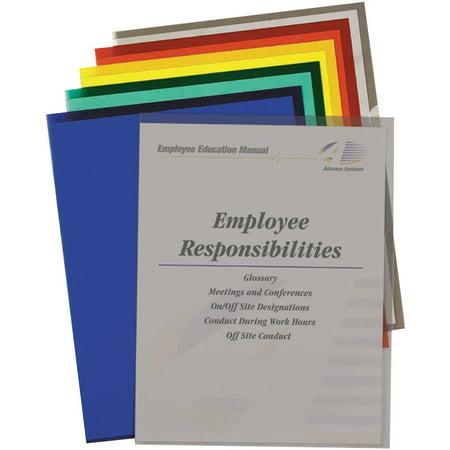 Project Folder Letter - C-Line Project Folders, Jacket, Letter, Poly, Assorted Colors, 25/Box