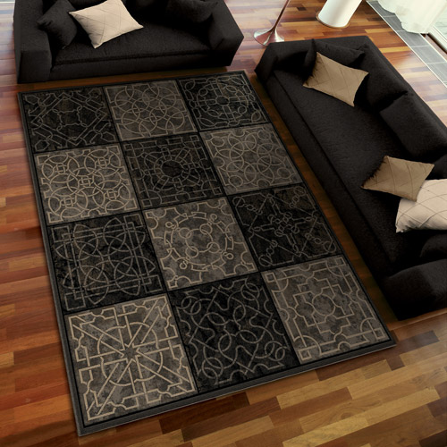 Orian Rugs Dark Domino Area Rug, Smoke
