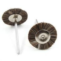 Unique Bargains 5x 2.3mm Mandrel 25mm Horse Hair Wheel Jewelers Polishing Tool