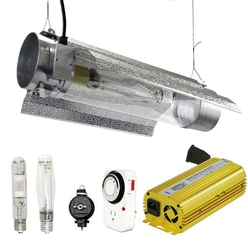Virtual Sun 400W HPS MH Grow Light Tube Reflector Hood Digital Kit - 3Pk