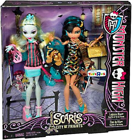 Monster High Scaris City of Frights Lagoona Blue & Cleo de Nile Doll 2-Pack - Cleo De Nile