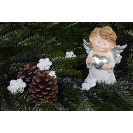 LAMINATED POSTER Christmas Angel Wings Decoration Angel Poster Print 24 x 36