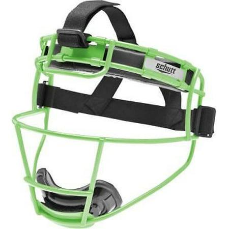 Schutt 122150CC Softball Fielder's Protective Face Mask, YOUTH, Neon Green (Schutt Youth Polyester)
