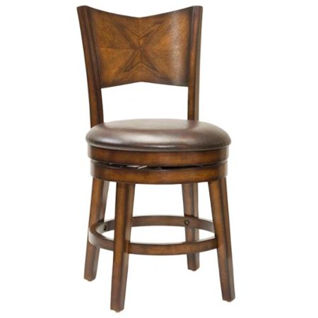 Outstanding Jenkins Rustic Oak Swivel Stool Counter Height Walmart Com Pabps2019 Chair Design Images Pabps2019Com