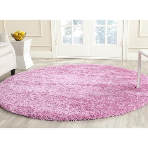 Lovely Safavieh California Cozy Plush Pink Shag Rug (6u00277 Round)
