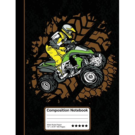 Halloween Party Games For High School Students (ATV Off Road Four Wheeler 4X4 Composition Notebook : Wide Ruled Line Paper Student Halloween Notebook for School, Journaling, or Personal)