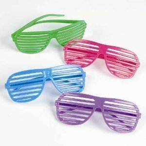 1 Pcs Glasses Creattive Shutters Style Party Wedding Bright Color Charming Night Club Concert Props Color:colorful - Halloween Denver Concerts