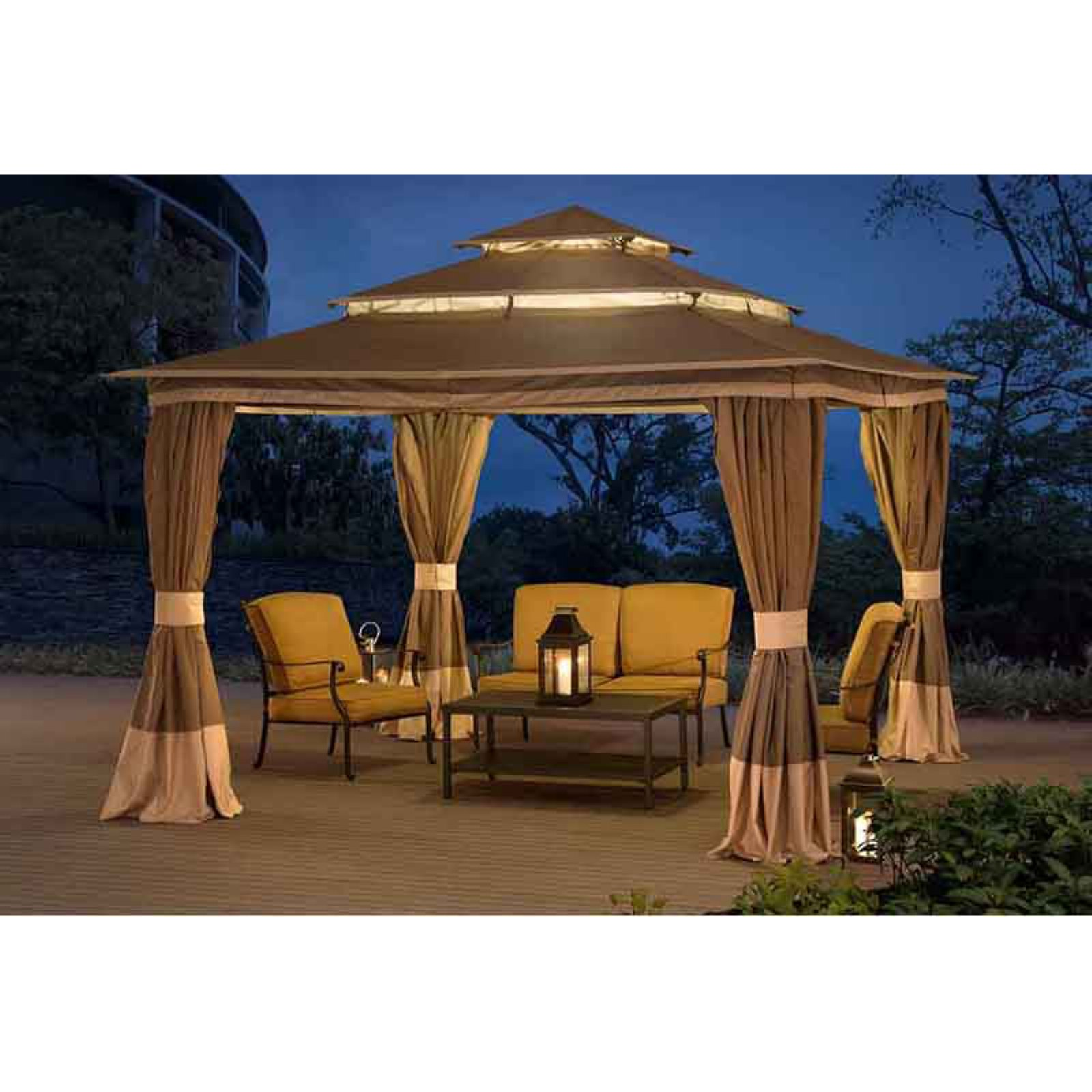 Sunjoy Tierney Gazebo with netting by SunNest Service LLC