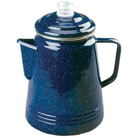 Coleman 14 Cup Enamelware Percolator Blue 2000016405 SKU: (Coleman Stainless Steel 12 Cup)