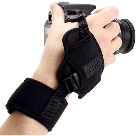 Professional Digital Film DSLR Camera Hand Grip Strap with Metal Plate by USA Gear - Works With Canon , Nikon , Olympus and More