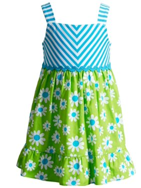 d88d06a9bd7 Product Image Youngland Little Girls Stripe Daisy Sundress 3T
